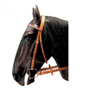 Race bridle w/rubber grip reins