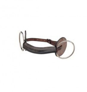 Leather wire ring bradoon