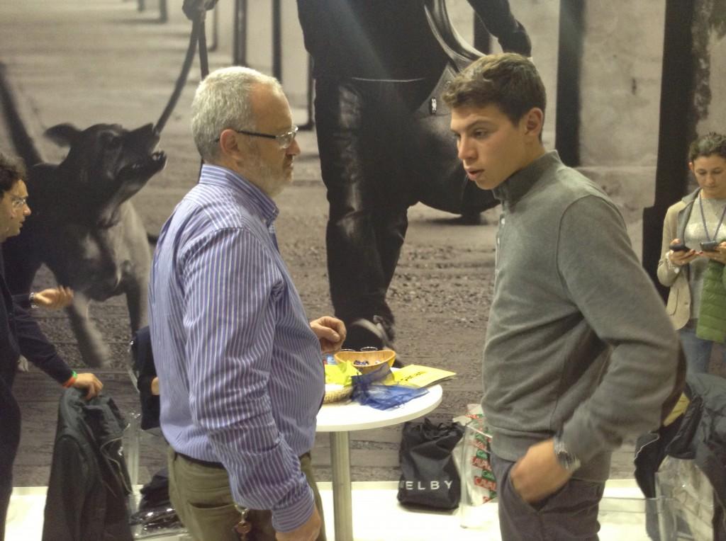 Marcello Manganotti con Pariani.